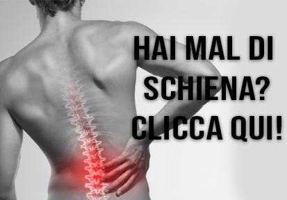 Mal di schiena - Panca posturale